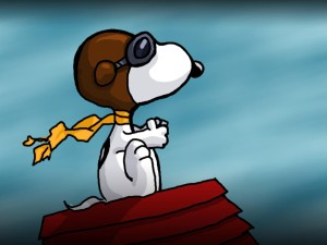Snoopy-piloto-de-avion